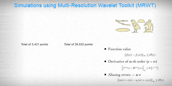 Simulations using Multi-Resolution Wavelet Toolkit (MRWT